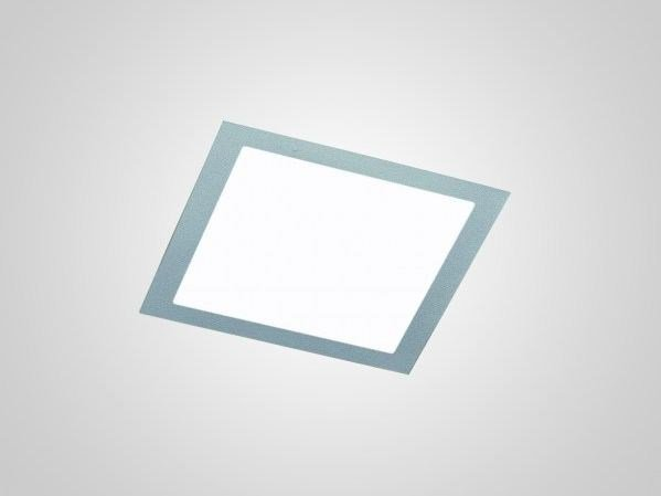 Direct light recessed painted metal ceiling lamp incas diffused by luciferos