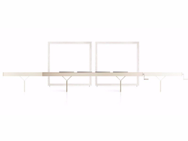 Extending wooden bench INCISO | Bench by Bauline