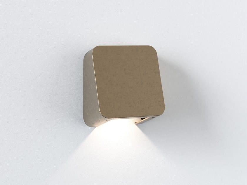 Segnapasso a LED a parete in ottone per esterni INCLINE SINGLE by Astro Lighting
