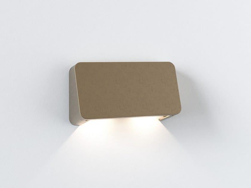 Segnapasso a LED a parete in ottone per esterni INCLINE TWIN by Astro Lighting