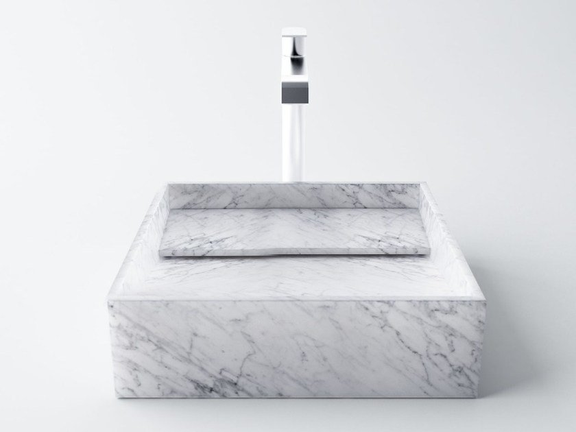 Inclinio Lavabo En Marbre De Carrara By Filodesign Design Luca