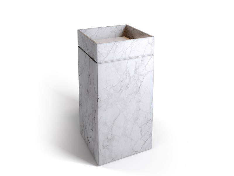 Freestanding Carrara marble washbasin INCLINIO FREESTANDING | Carrara marble washbasin by Filodesign