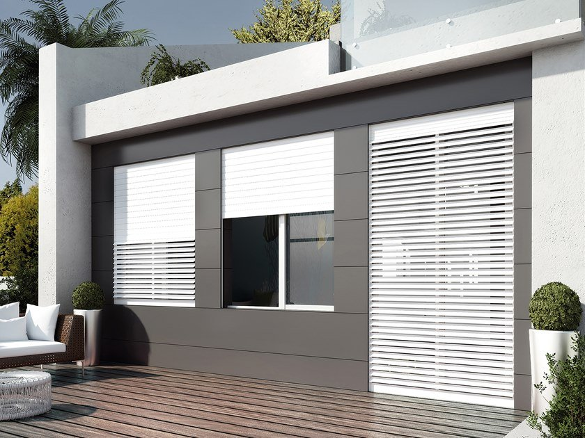 Aluminium roller shutter with adjustable slats INCOFLAP by IN.CO.VAR.