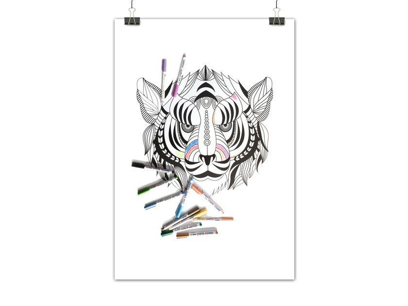 Lavagnetta magnetica INDIAN TIGER by Groovy Magnets