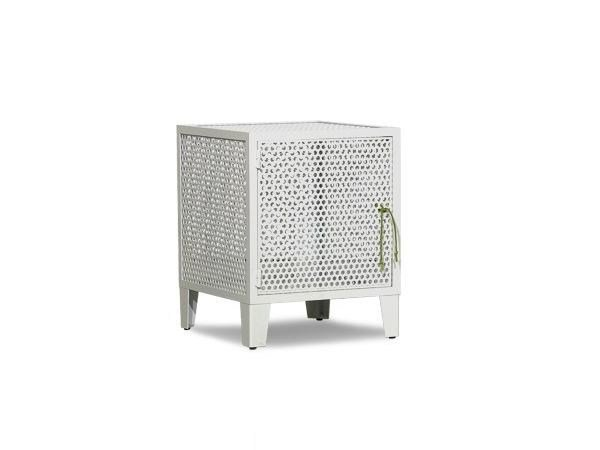 Square metal coffee table with storage space INDUSTRIELLE by BAXTER