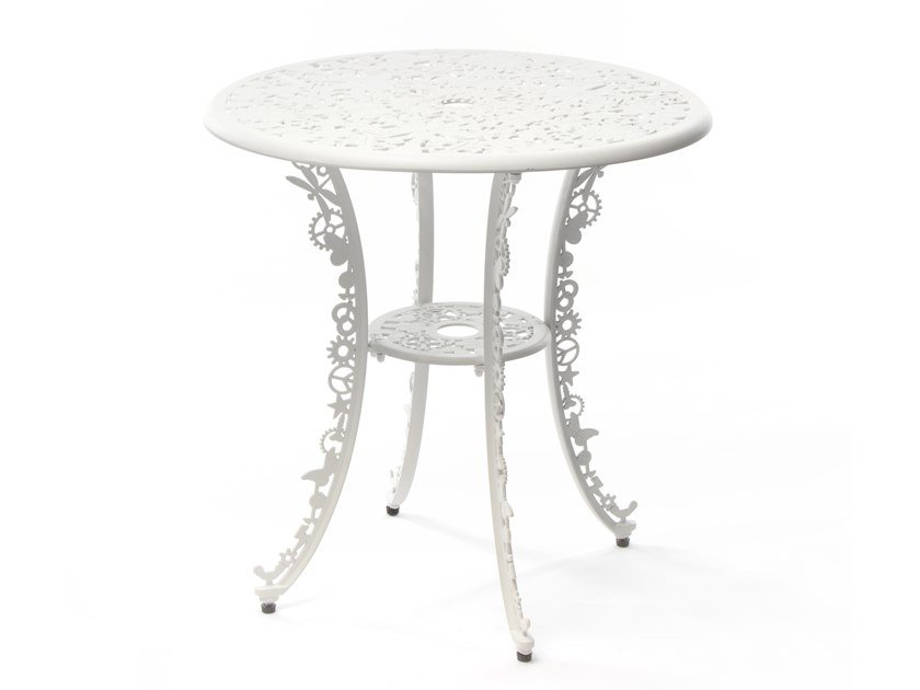 Round aluminium table INDUSTRY | Round table by Seletti
