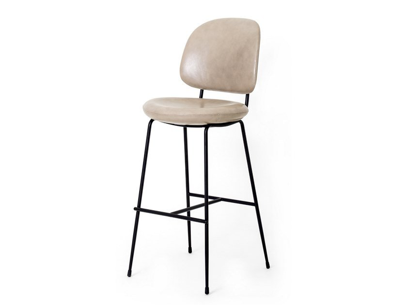 High stool with back INDUSTRY | Barstool by STELLAR WORKS