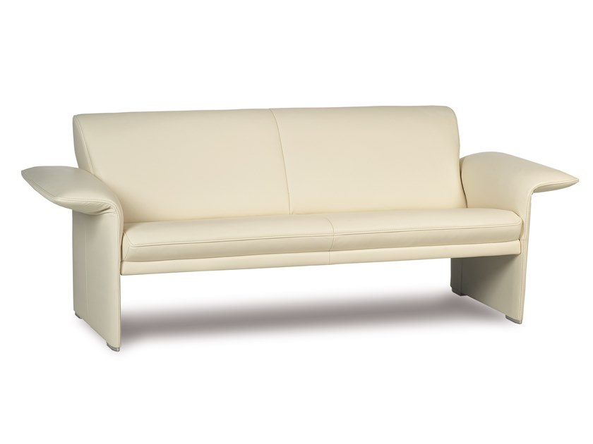 2 seater leather sofa with headrest INDY | Leather sofa by JORI