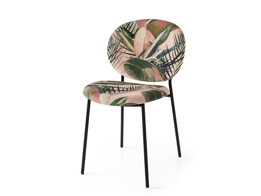 Upholstered fabric chair INES by Calligaris