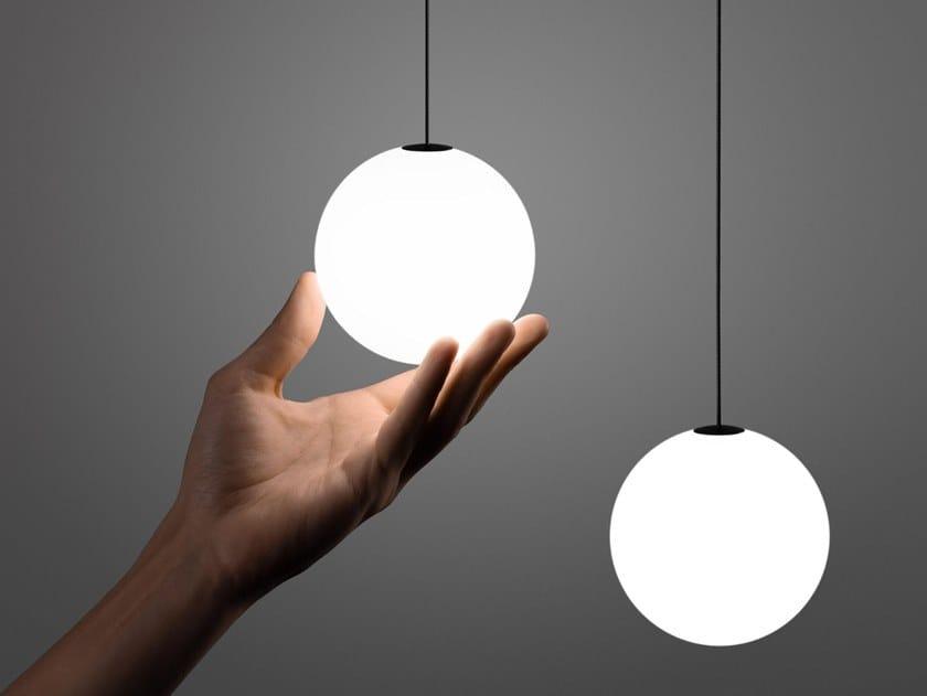 Lampada a sospensione / illuminazione a binario in vetro INF SHAR PDNT SOFT by Centrsvet
