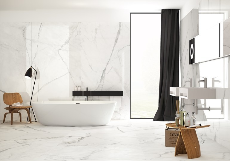 Wall Floor Tiles With Marble Effect Infinito 2 0 Calacatta White By Ceramica Fondovalle