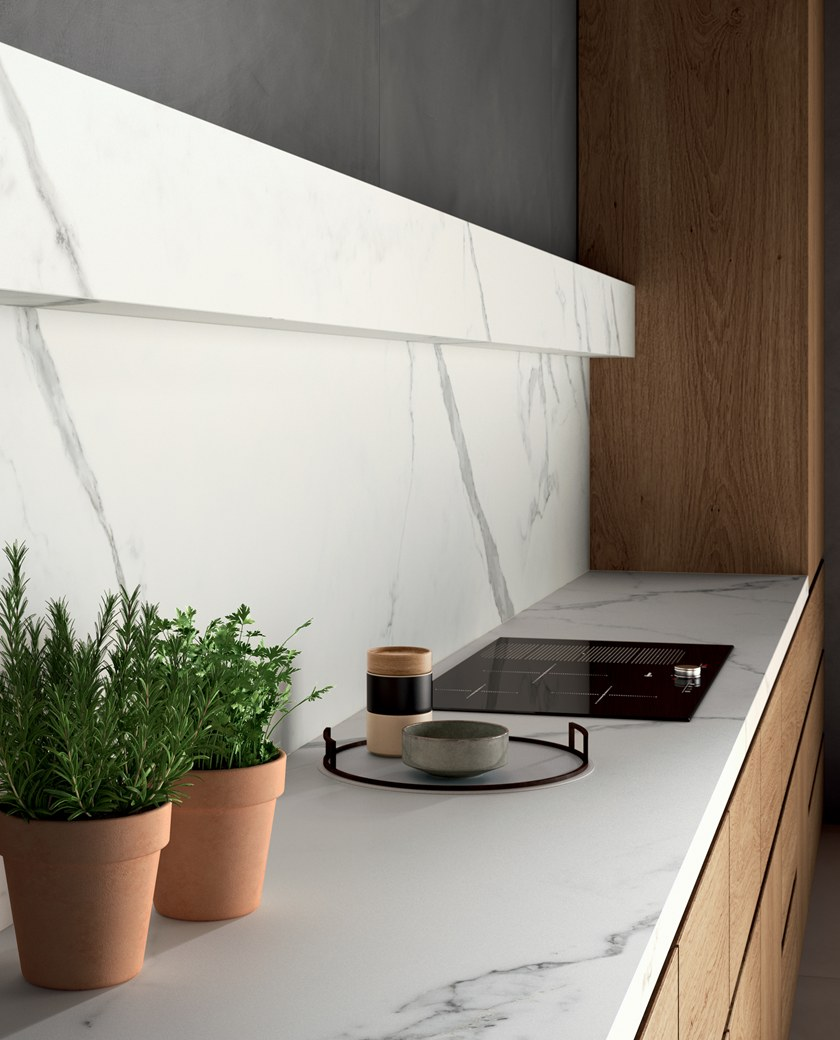 INFINITO 2.0 CALACATTA WHITE   Kitchen worktop By CERAMICA FONDOVALLE