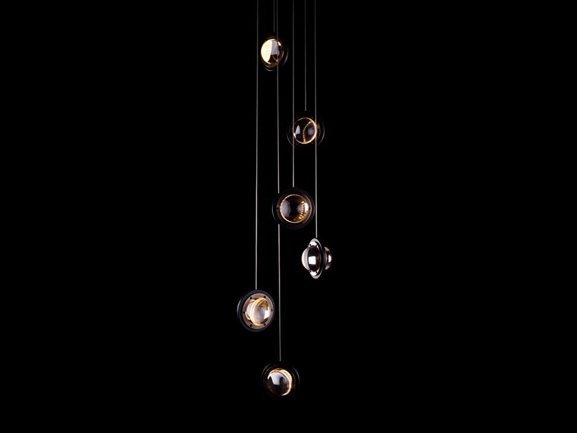LED brass pendant lamp INFINITY 1519 | Pendant lamp by Karice