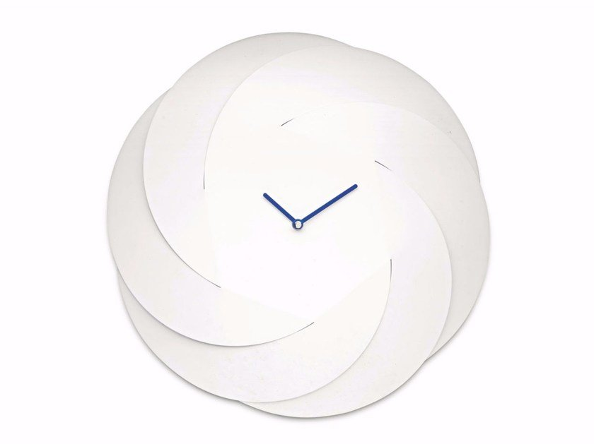 Wall-mounted steel clock INFINITY CLOCK by Alessi