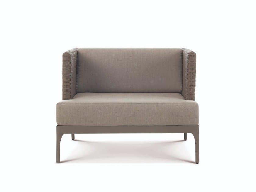 Ethimo LightWick® garden armchair with armrests INFINITY | Garden armchair by Ethimo