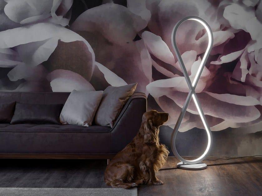 LED direct-indirect light aluminium floor lamp INFINITY by Oleant