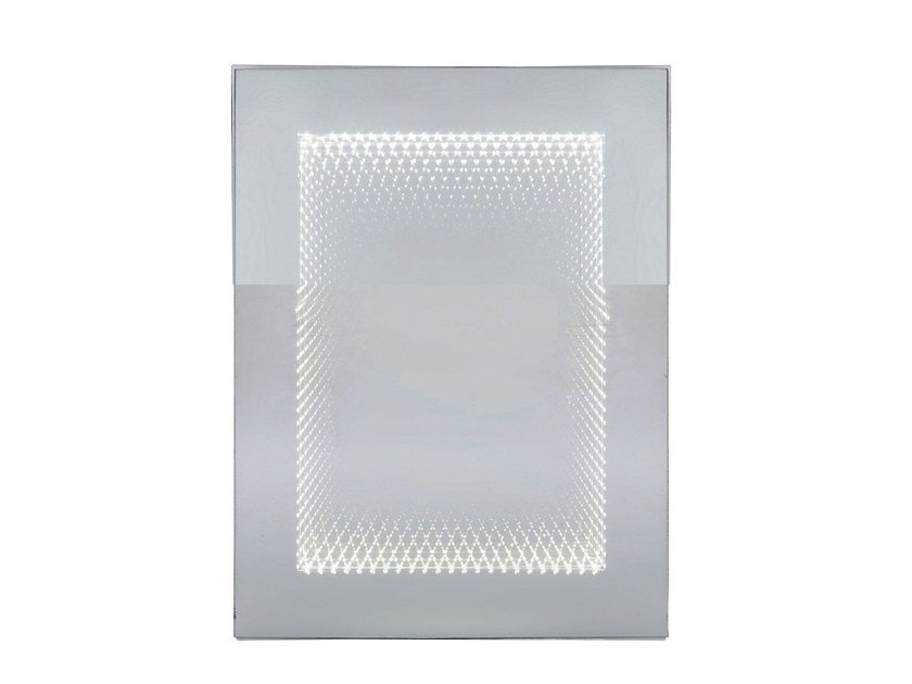 Rectangular wall-mounted mirror with integrated lighting INFINITY | Rectangular mirror by KARE-DESIGN