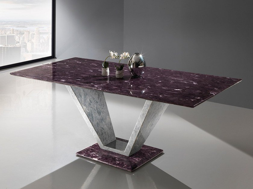 Rectangular Crystal Stone® table INFINITY | Rectangular table by Crystal Stone