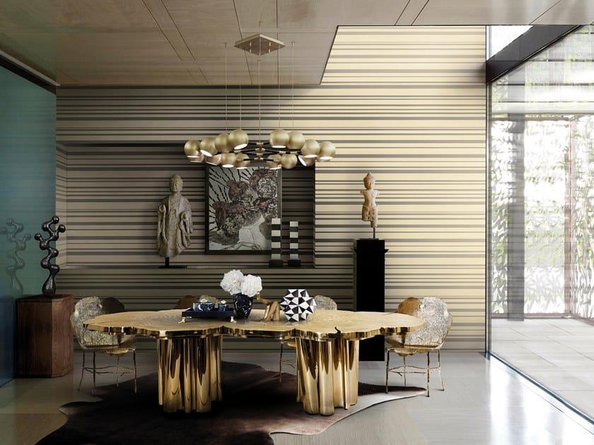 Striped nonwoven wallpaper INFINITY TONE-ON-TONE STRIPE by Omexco