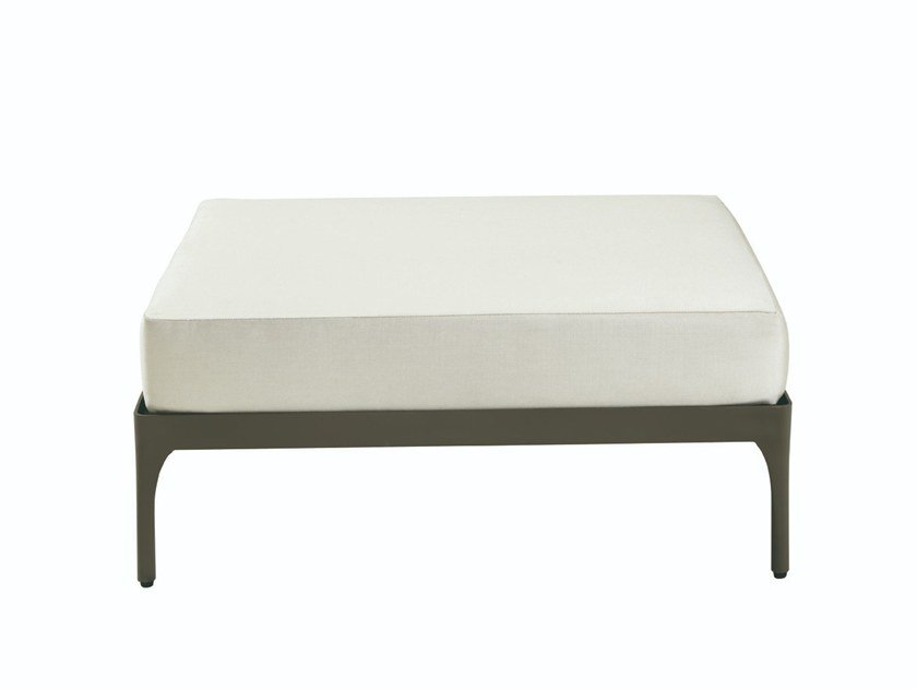 Low upholstered garden stool INFINITY | Upholstered stool by Ethimo