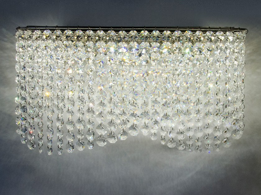 LED wall light with crystals INFINITY WALL by Manooi