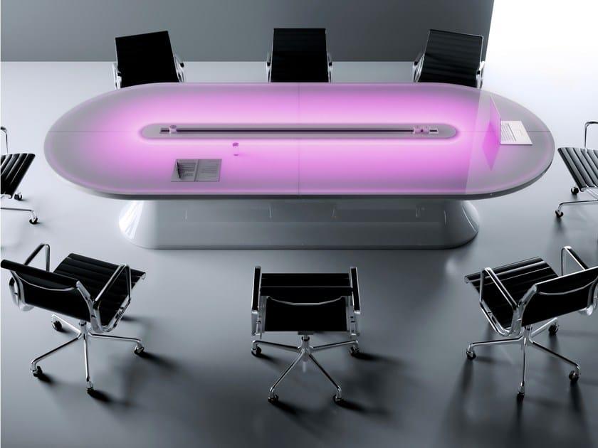 Tavolo da riunione in Adamantx® INFO TABLE by ZAD ITALY