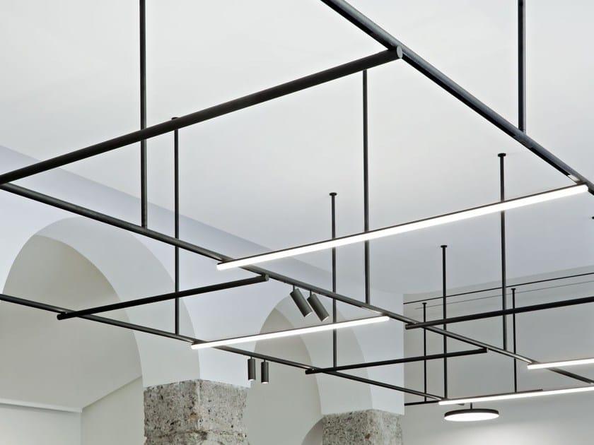 lampe sur rails en aluminium extrud infra structure by flos design vincent van duysen. Black Bedroom Furniture Sets. Home Design Ideas