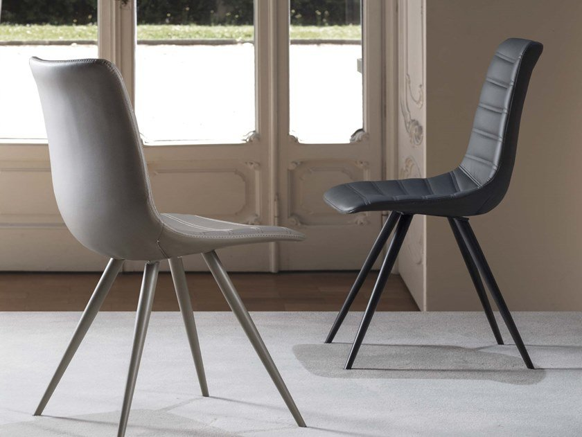 Upholstered Eco-leather chair INGRID   Eco-leather chair by La seggiola