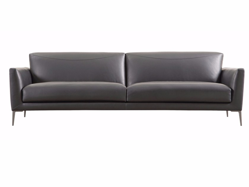 3 seater leather sofa INITIATIVE By ROCHE BOBOIS design ...
