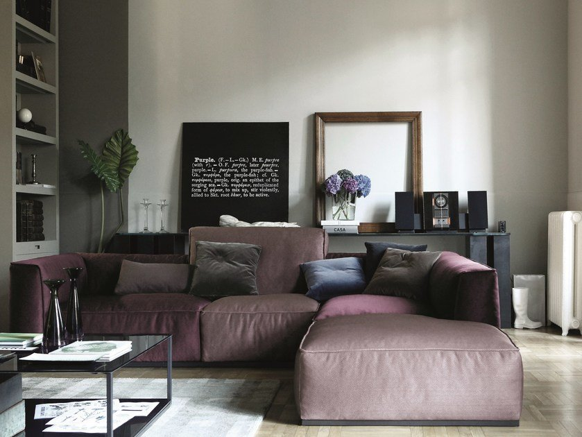 Sectional sofa with chaise longue INKAS | Sectional sofa by Arketipo
