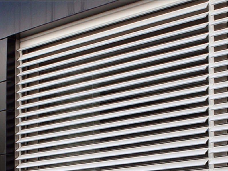 Extruded aluminium roller shutter with adjustable slats INKLINA by Teknika