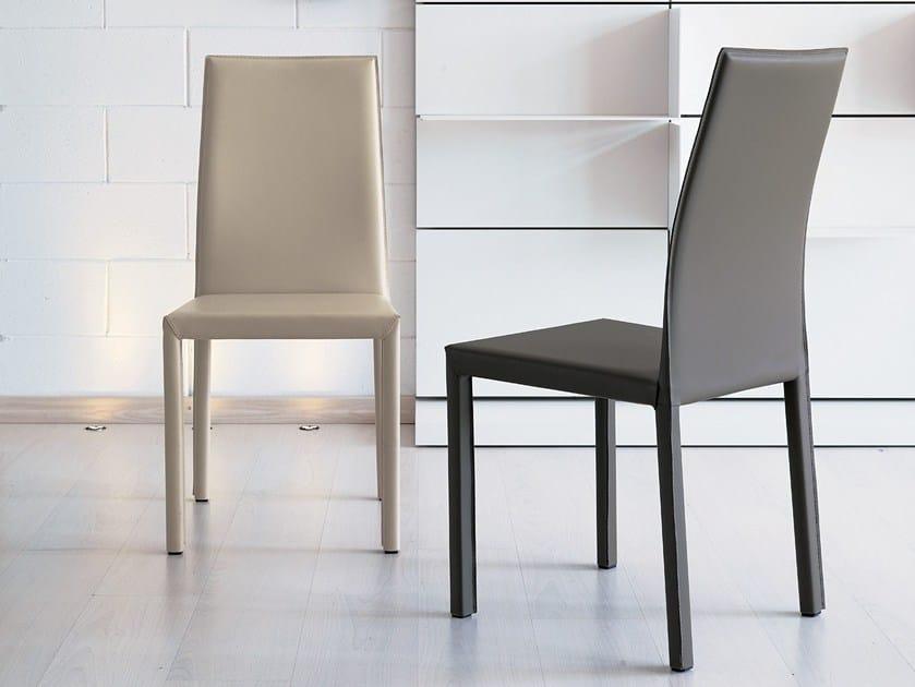 Imitation leather chair INN by Ozzio Italia