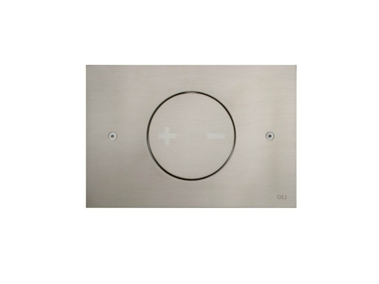 Brushed steel flush plate INO-X 02 | Brushed steel flush plate by OLI