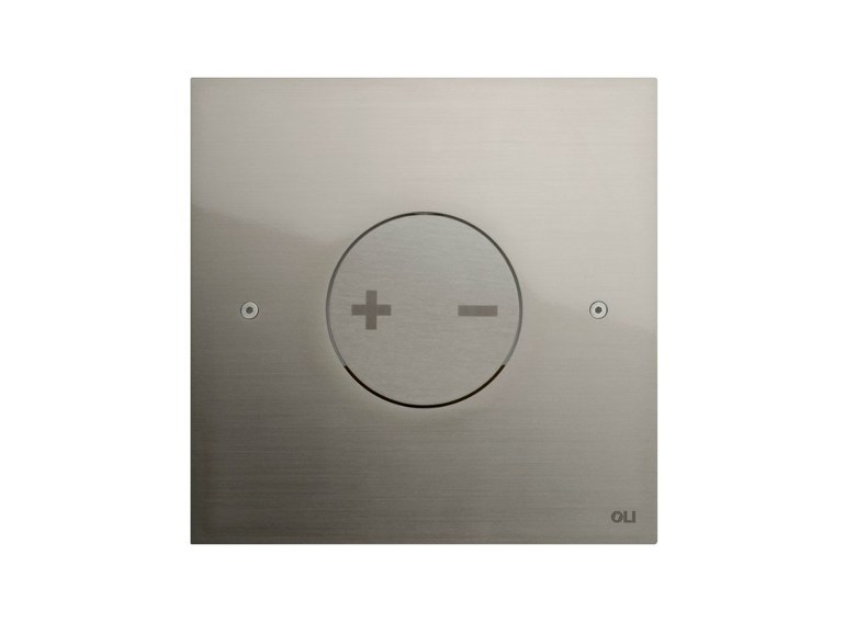 Brushed steel flush plate INO-X 04 | Brushed steel flush plate by OLI