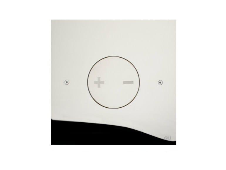 Glossy steel flush plate INO-X 04 | Glossy steel flush plate by OLI