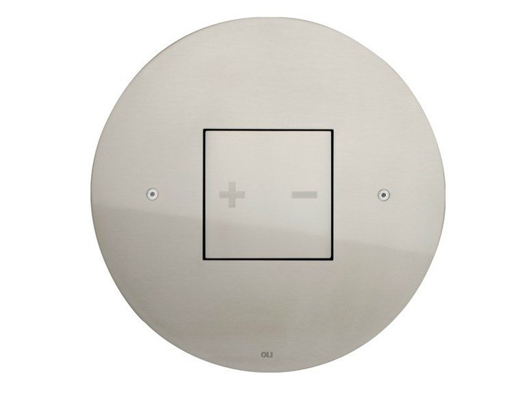 Brushed steel flush plate INO-X 05 | Brushed steel flush plate by OLI
