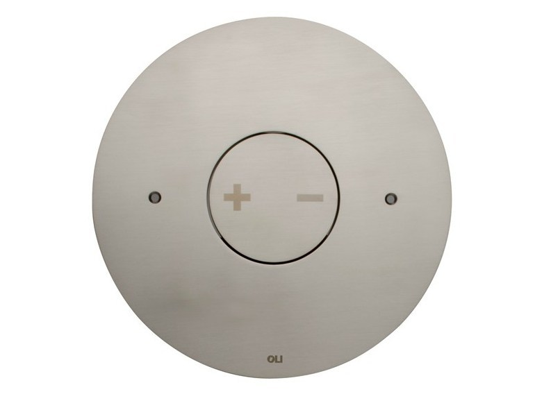 Brushed steel flush plate INO-X 06 | Brushed steel flush plate by OLI