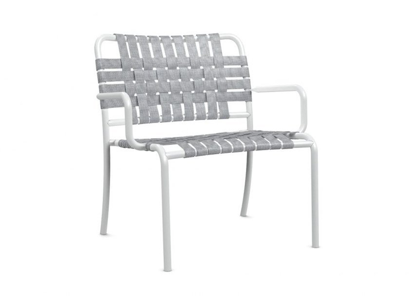 Stackable easy chair with armrests INOUT 826 by Gervasoni
