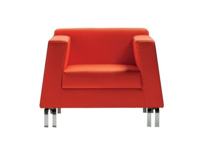 Upholstered modular armchair with armrests INOUT | Armchair by Luxy