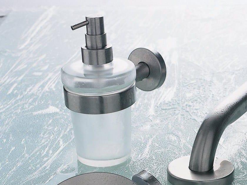 Dispenser di sapone liquido da parete in vetro satinato INOX | Dispenser di sapone liquido by INDA®