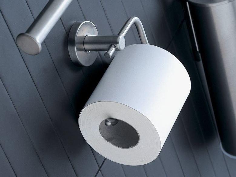 Stainless steel toilet roll holder INOX | Metal toilet roll holder by INDA®