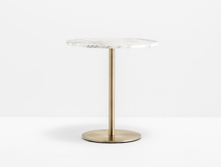 Round contract table INOX round 4401 by PEDRALI
