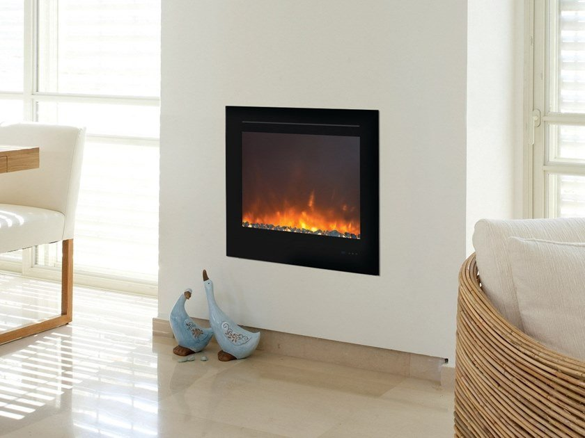 Electric built-in glass fireplace with remote control INSIDE 1870 by BRITISH FIRES