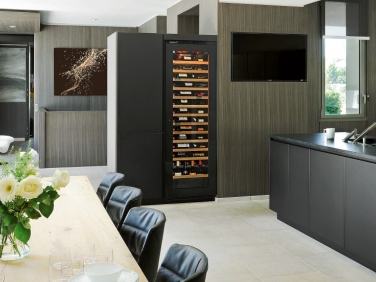 Built-in upright wine cooler INSPIRATION: LARGE | Wine cooler with glass door by EuroCave
