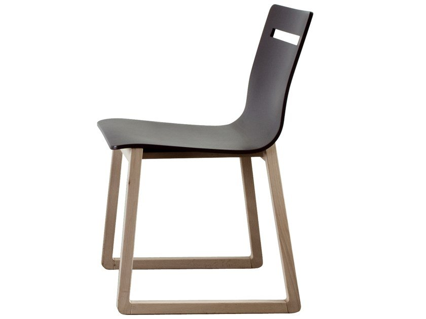 Sled base wooden chair INT   Chair by Bedont