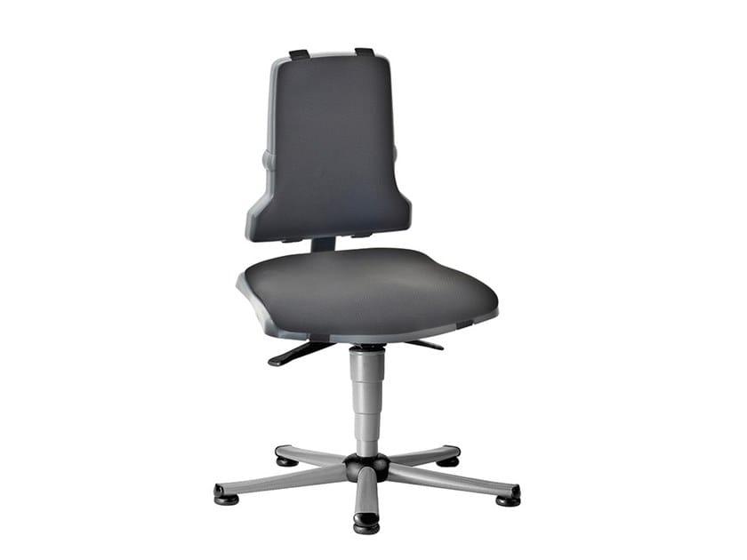 Swivel work chair with 5-Spoke base SINTEC 9800 by bimos
