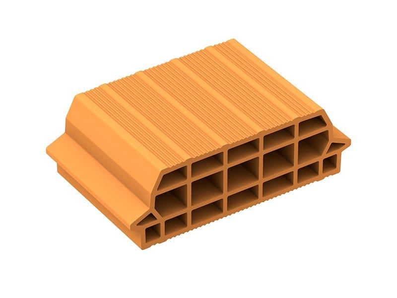 Slab clay block INTERPOSTO by Fornaci Laterizi Danesi