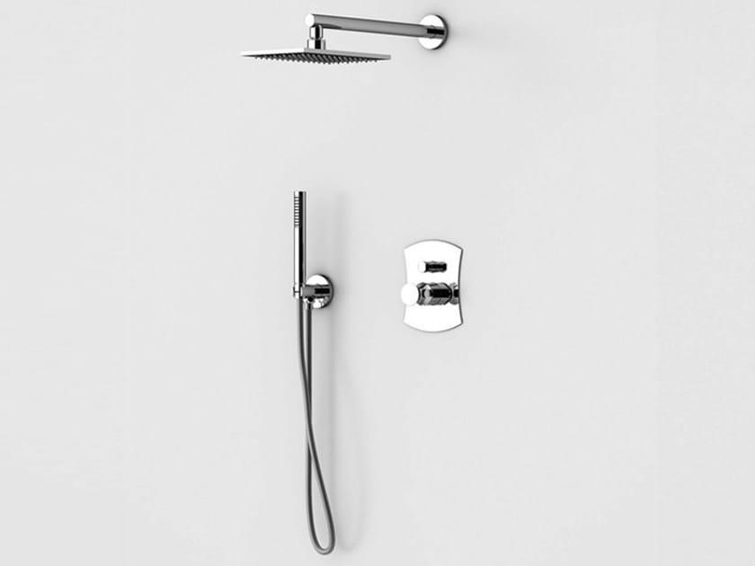 Shower mixer with hand shower with overhead shower INTERSEZIONE | Shower mixer by Gattoni Rubinetteria