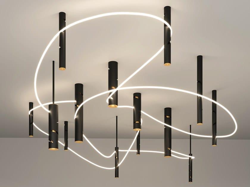 Pendelleuchte / Deckenlampe aus Aluminium INTERWEAVE | Pendelleuchte by Artemide