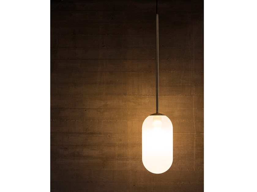 Direct light brass pendant lamp INTI GIG1453.1L by Cangini & Tucci